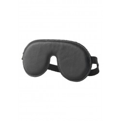 Hidden Desire Luxury BDSM Leather Eyemask Black