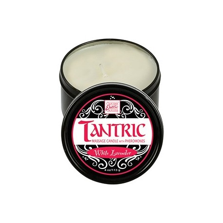 California Exotic Novelties Tantric Soy Candle - White Lavender 113gr