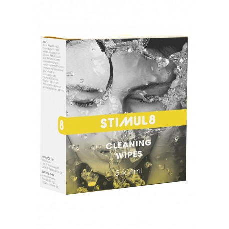 STIMUL8 Wipes For feminine hygiene and toy cleaning 5pcs